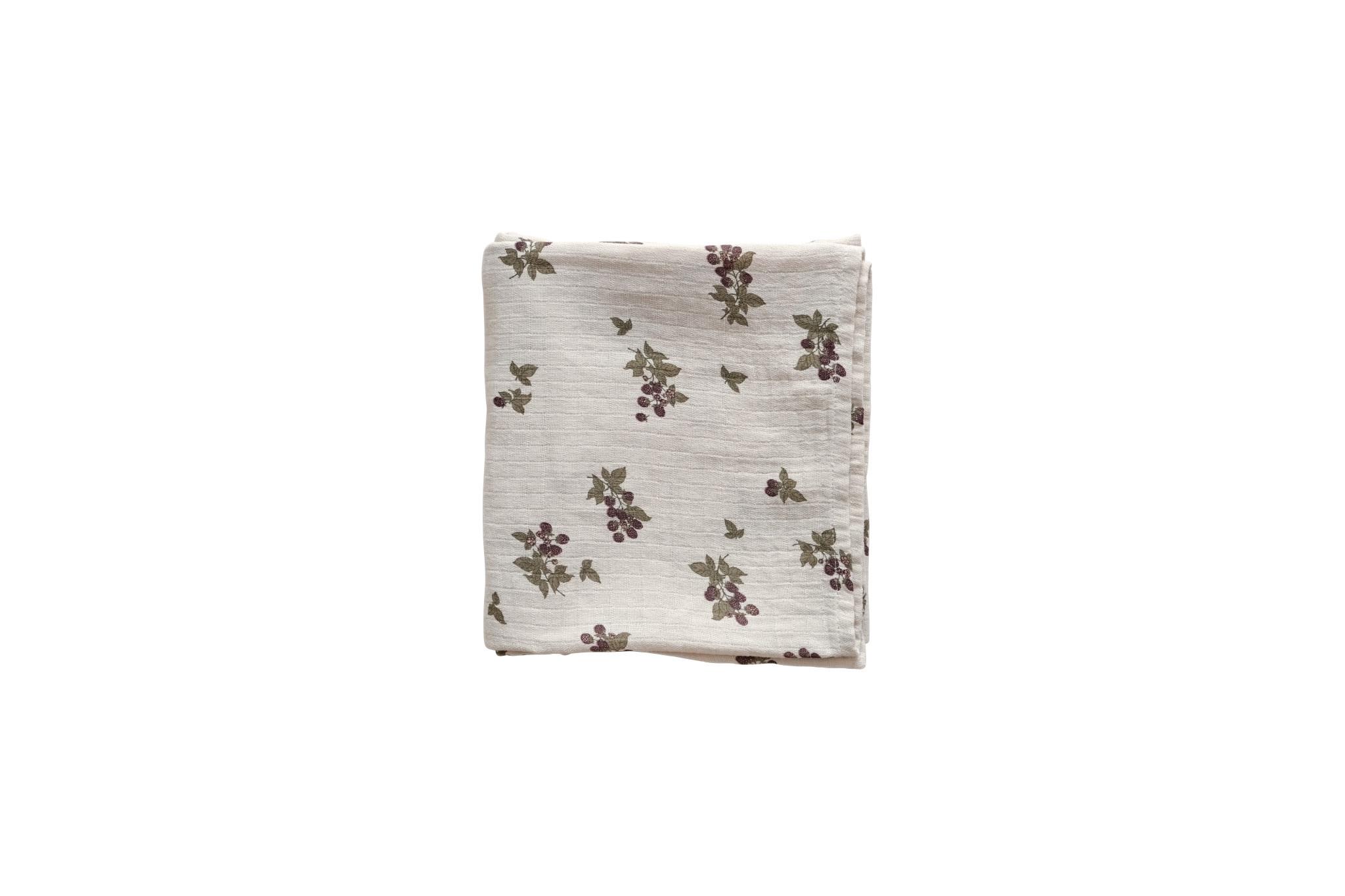 Blackberry muslin swaddle blanket-1