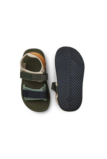 Monty sandals hunter green mix