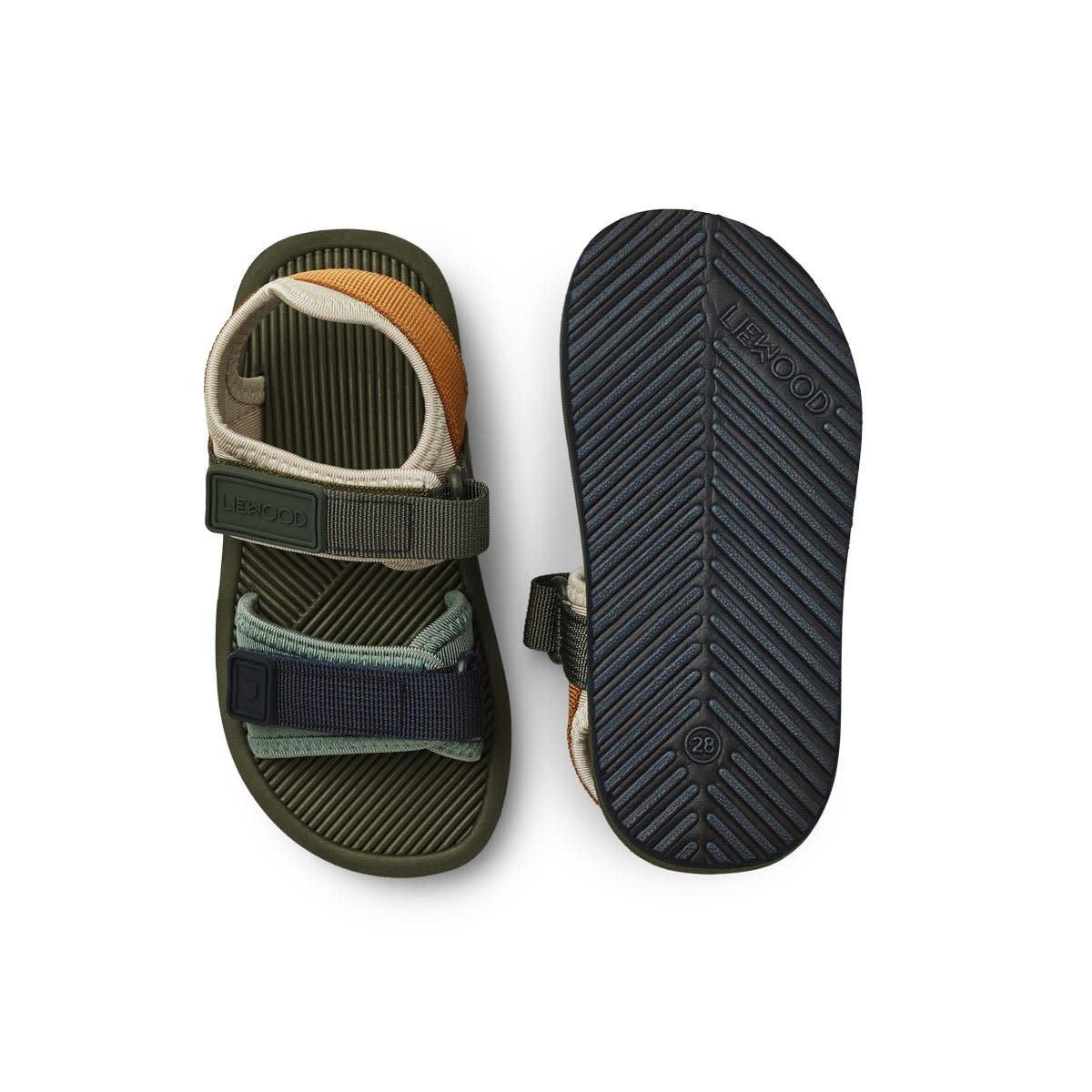 Monty sandals hunter green mix-1