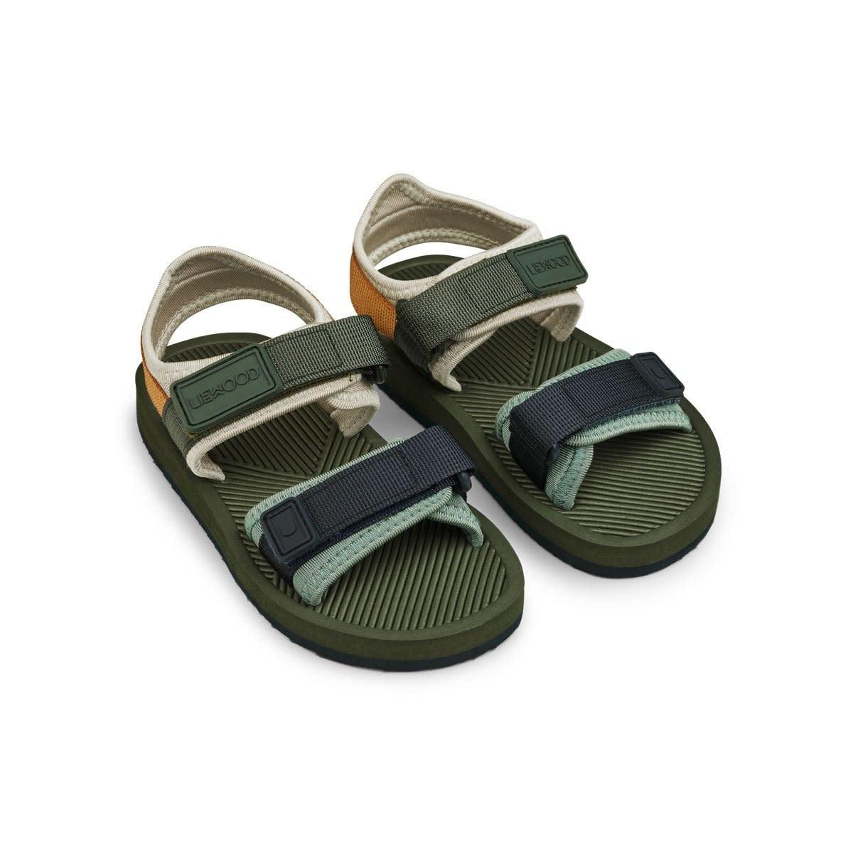 Monty sandals hunter green mix-2