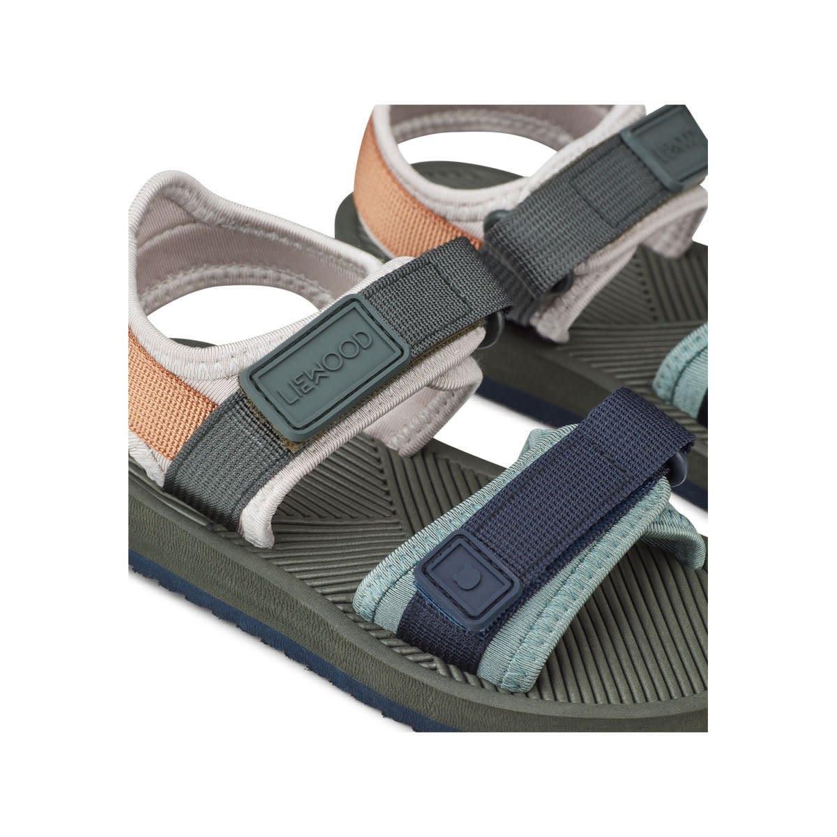Monty sandals hunter green mix-3