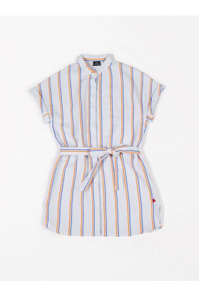 Dress short sleeve tetra fluo