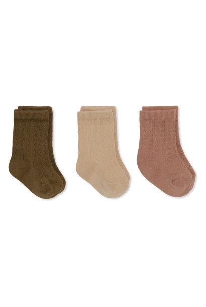 Pointelle socks brush/moonlight/breen