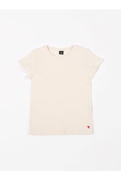 T-shirt rib creme