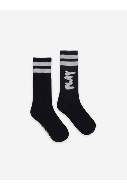 Play black long socks