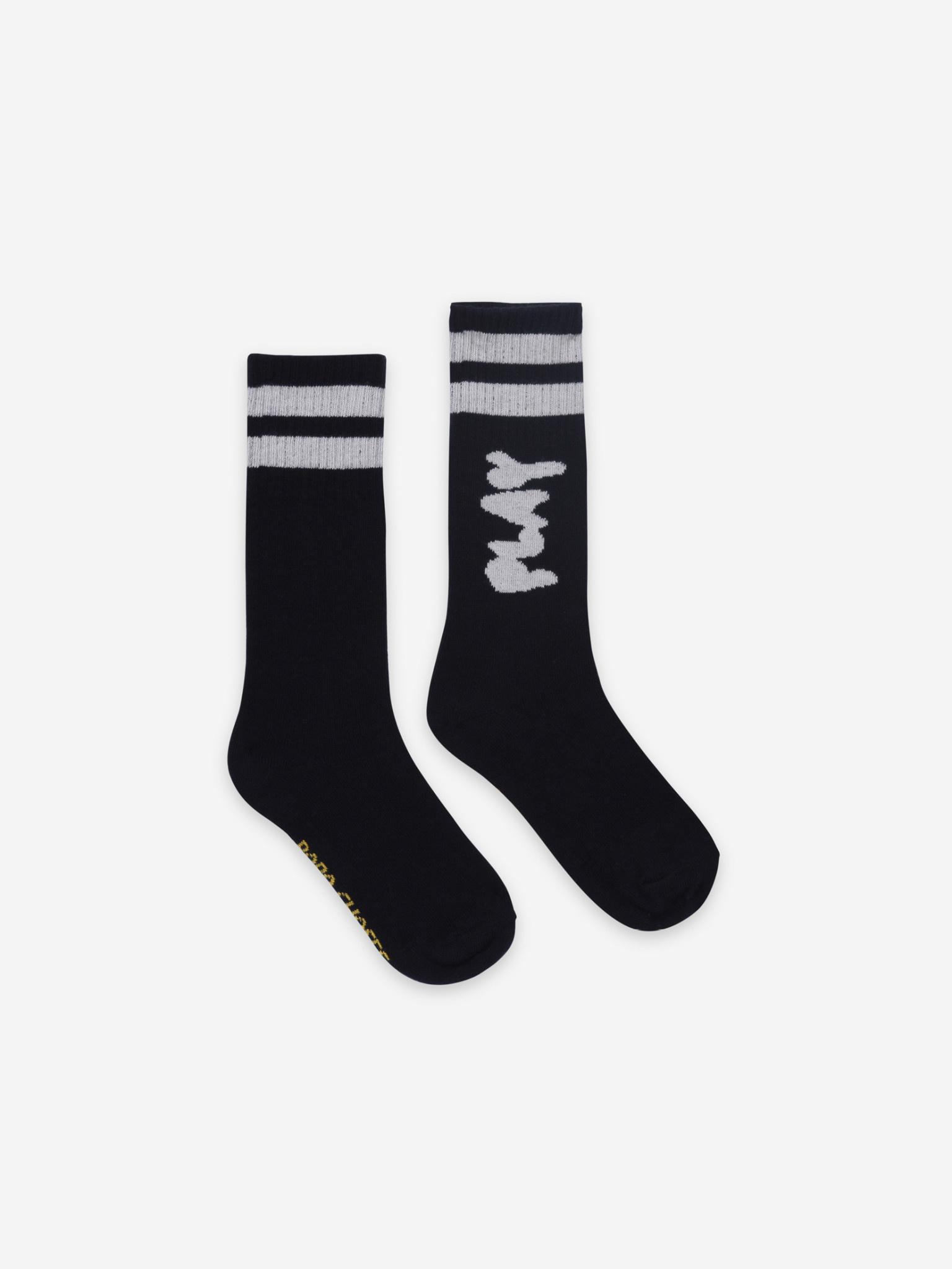 Play black long socks-1