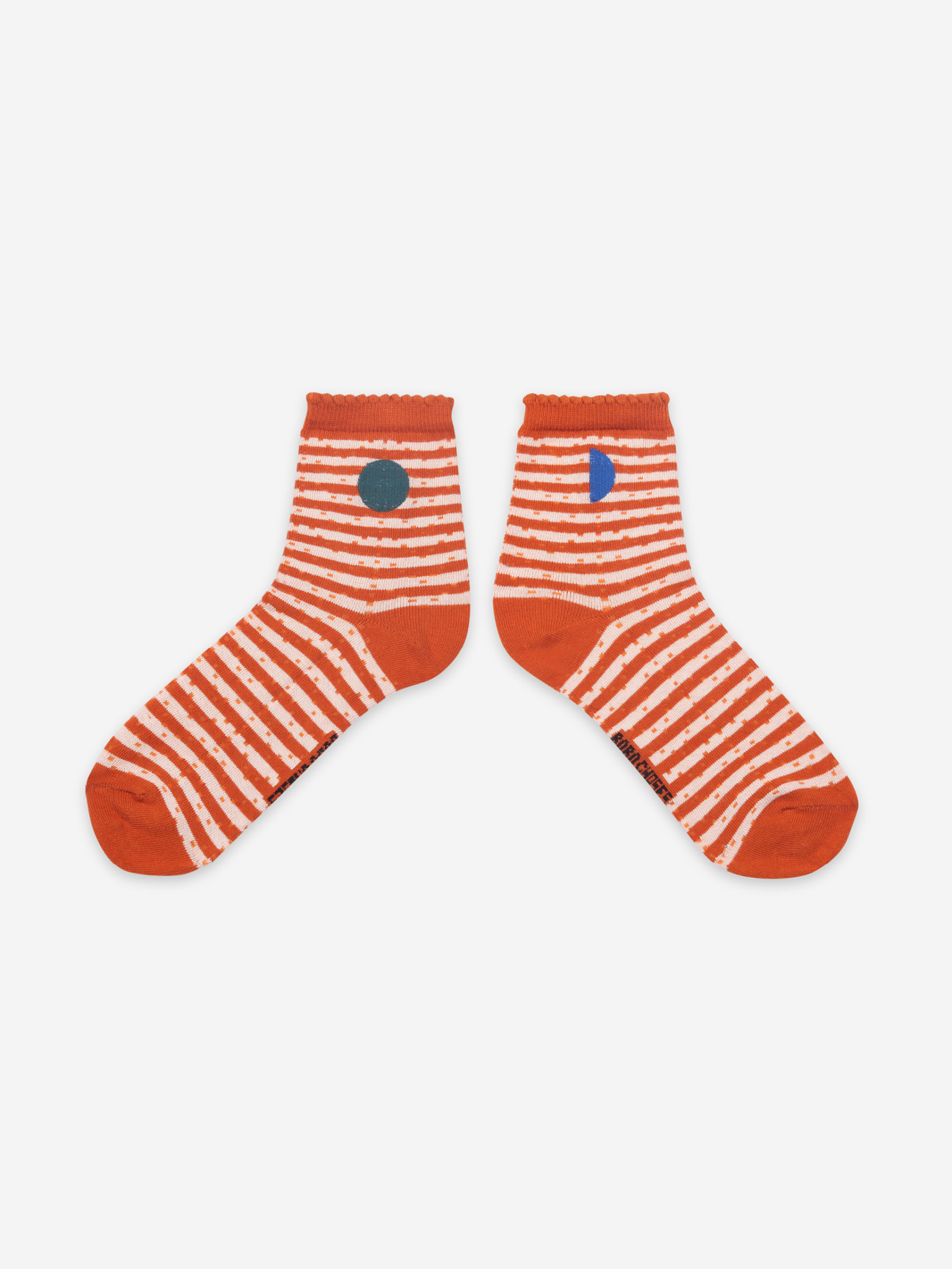 Orange stripes short socks-1