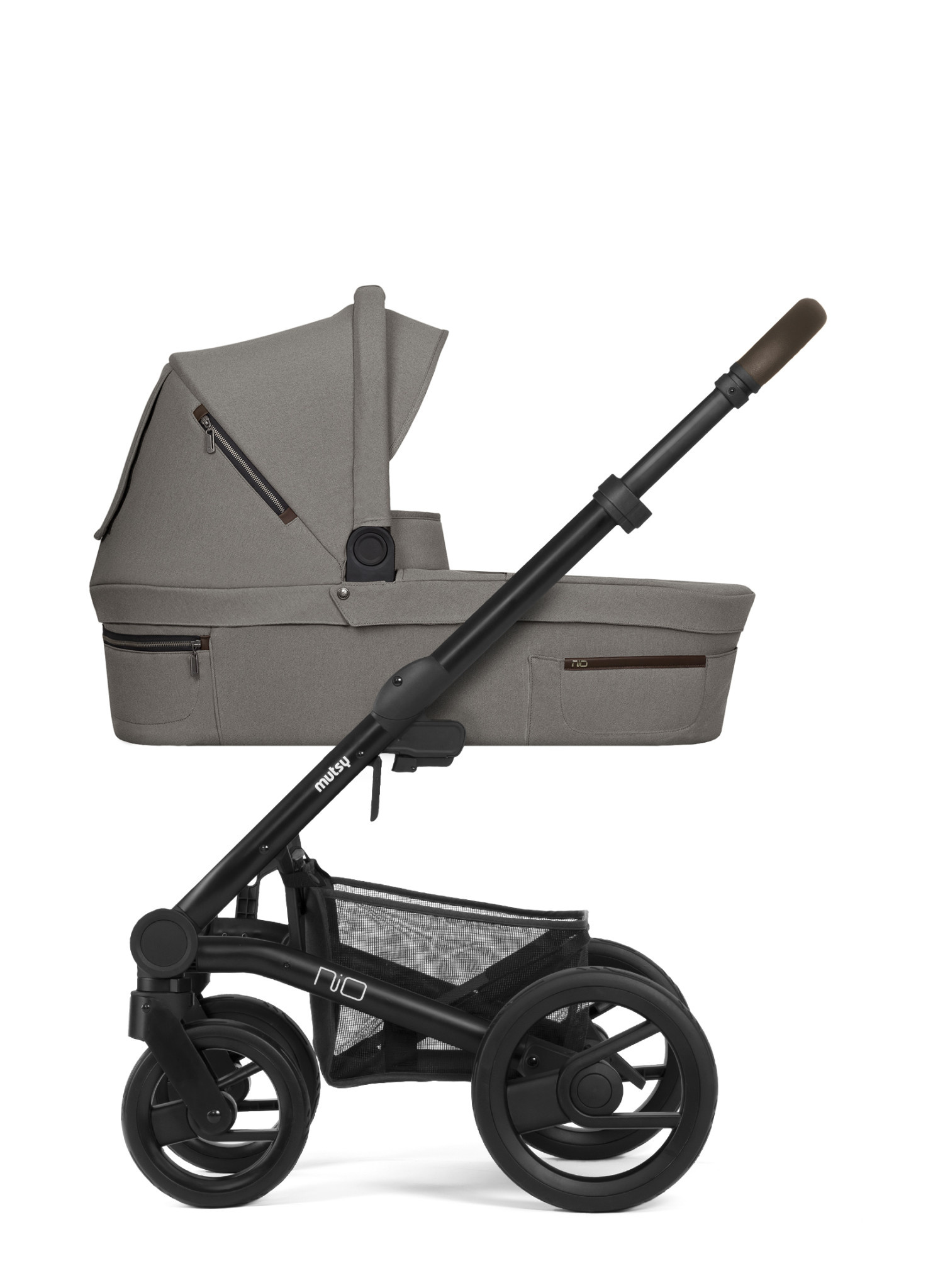 Nio journey kinderwagen taupe grey black/brown frame-1