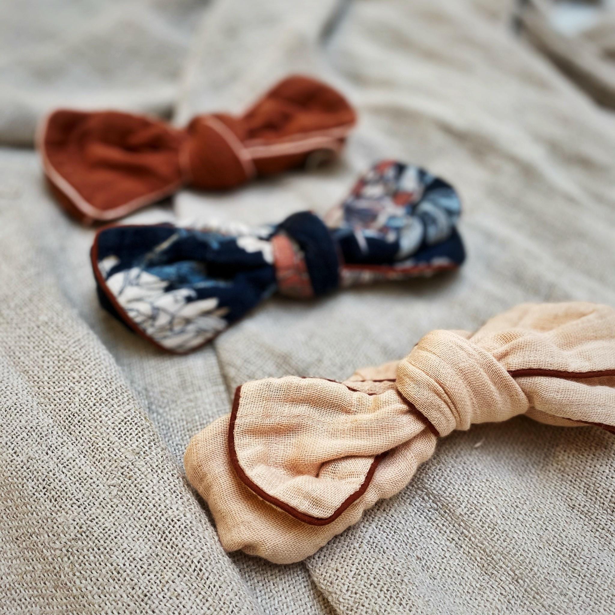 Muslin headband terracotta-2