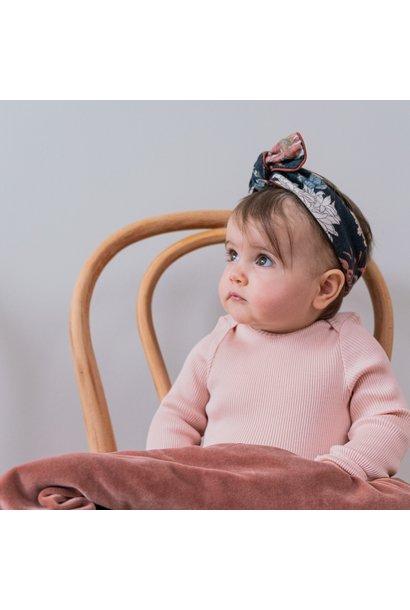 Muslin headband poppy
