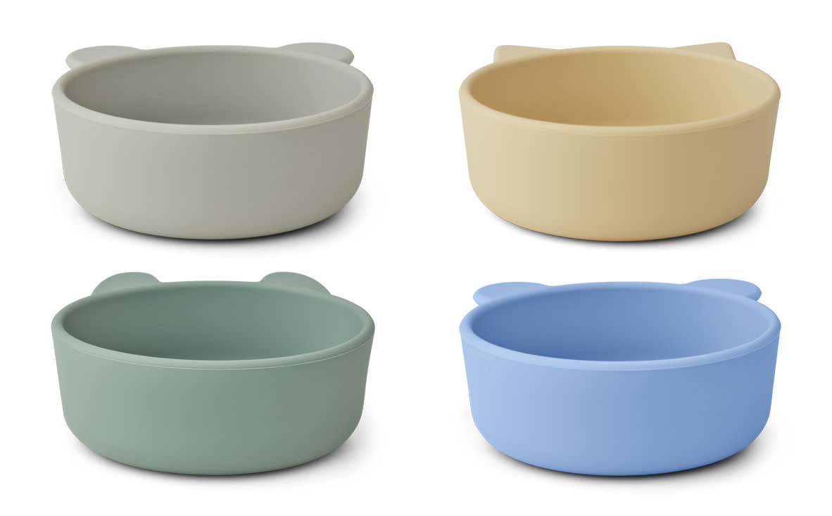 Iggy silicone bowls peppermint multi mix - 4 pack-1