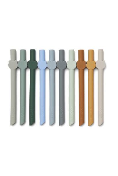 Badu straw blue wave multi mix - 10 pack