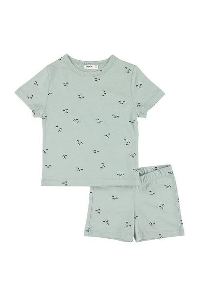 Pyjama 2 pieces short mountains baby