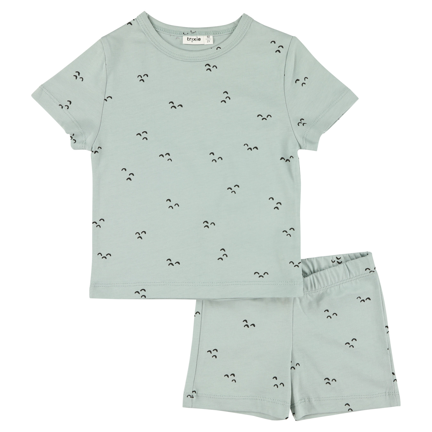 Pyjama 2 pieces short mountains baby-1