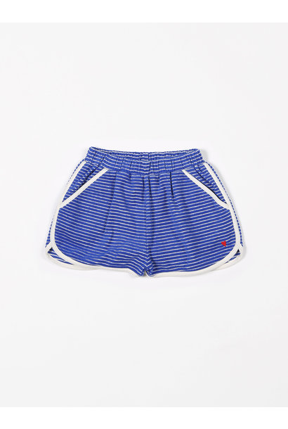 Short sport terry stripes palace blue