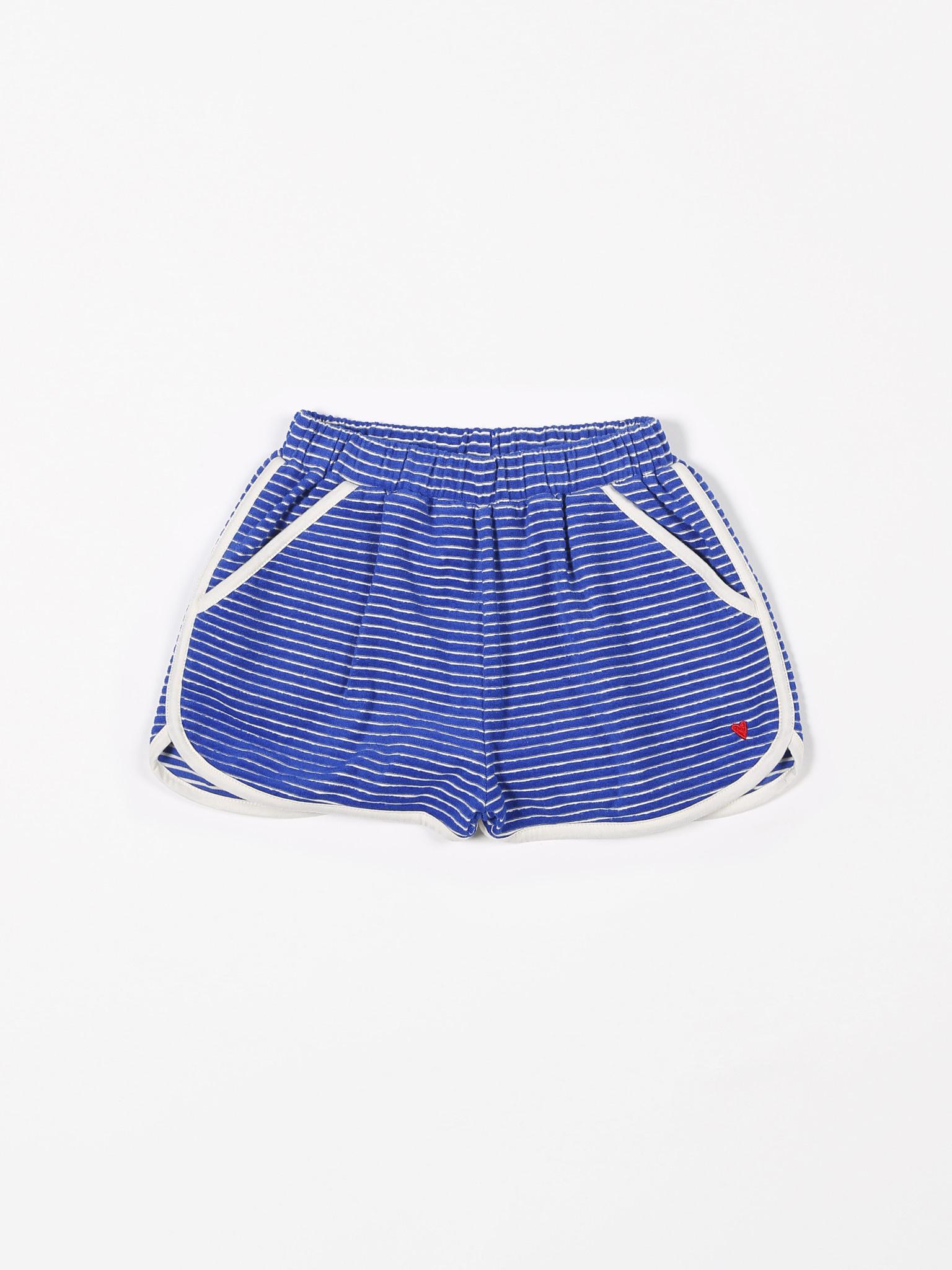 Short sport terry stripes palace blue-1