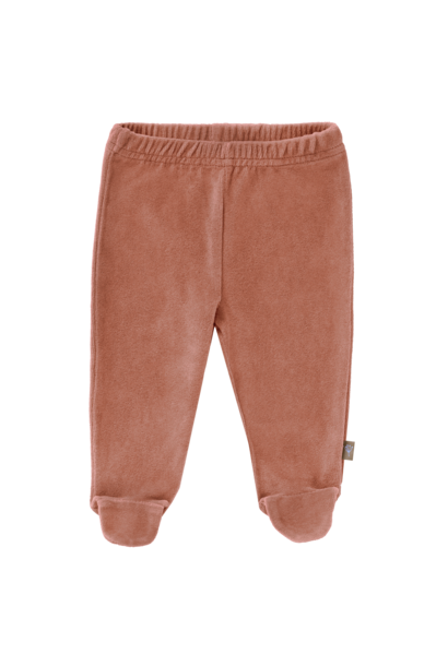 Trousers velours with feet ash rose
