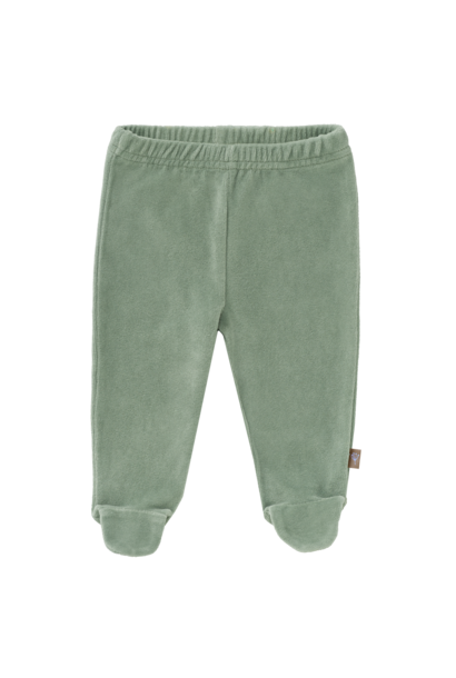 Trousers velours with feet forest green