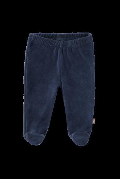 Trousers velours with feet indigo