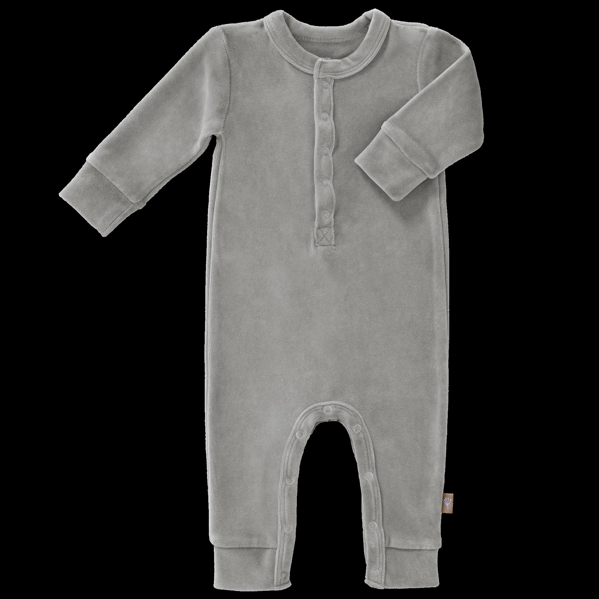 Pyjama velours paloma grey-1