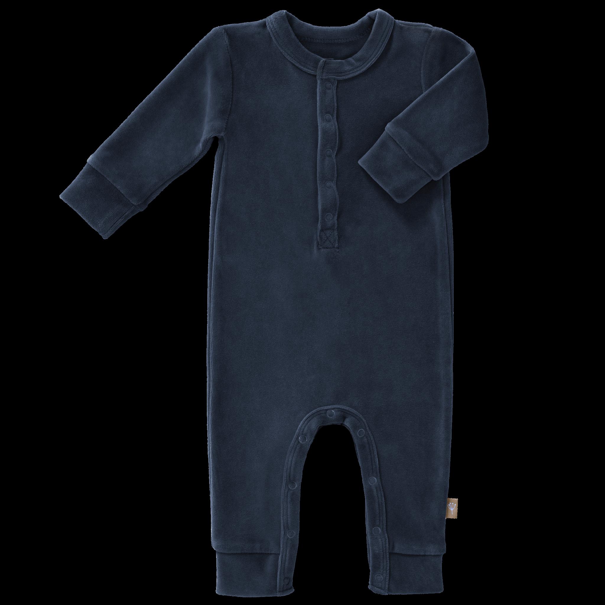 Pyjama velours indigo-1