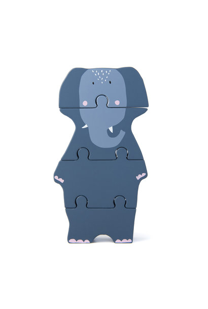 Dierenvormpuzzel mrs. elephant