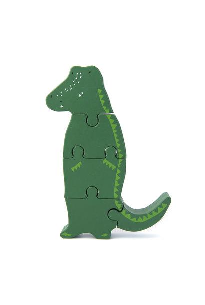 Dierenvormpuzzel mr. crocodile