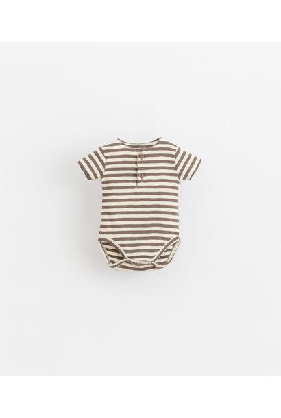 Striped rib body brown