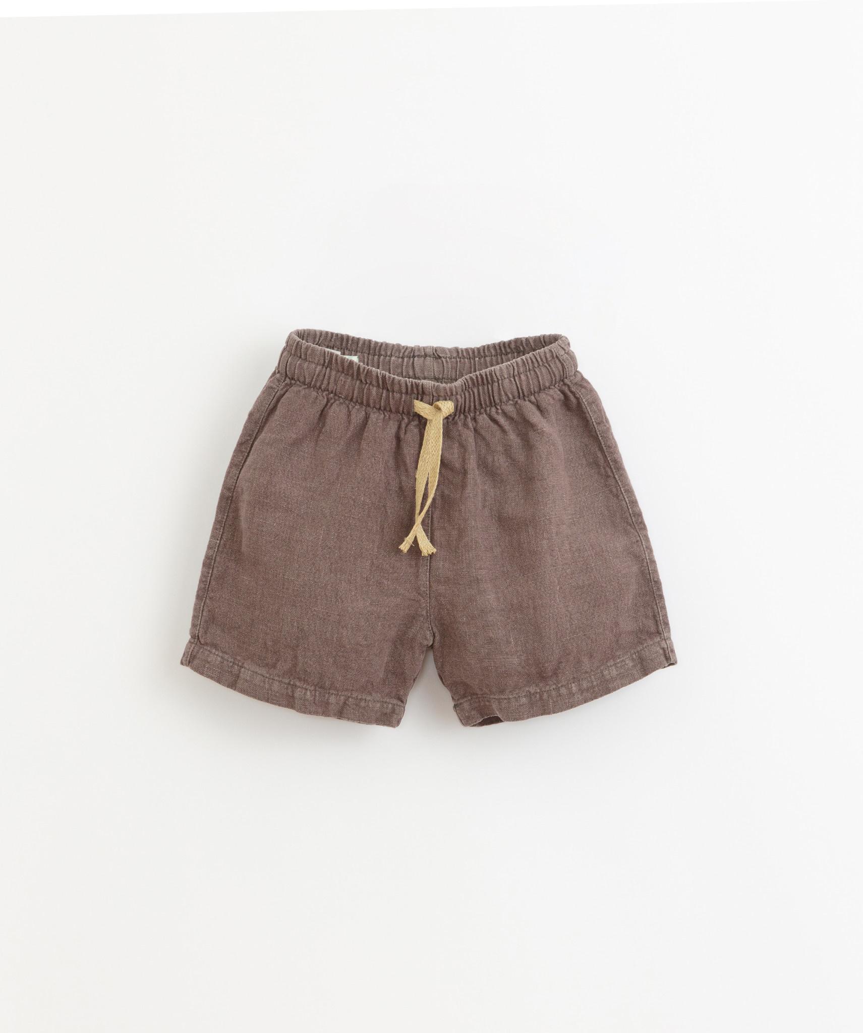 Linen shorts pinha-1