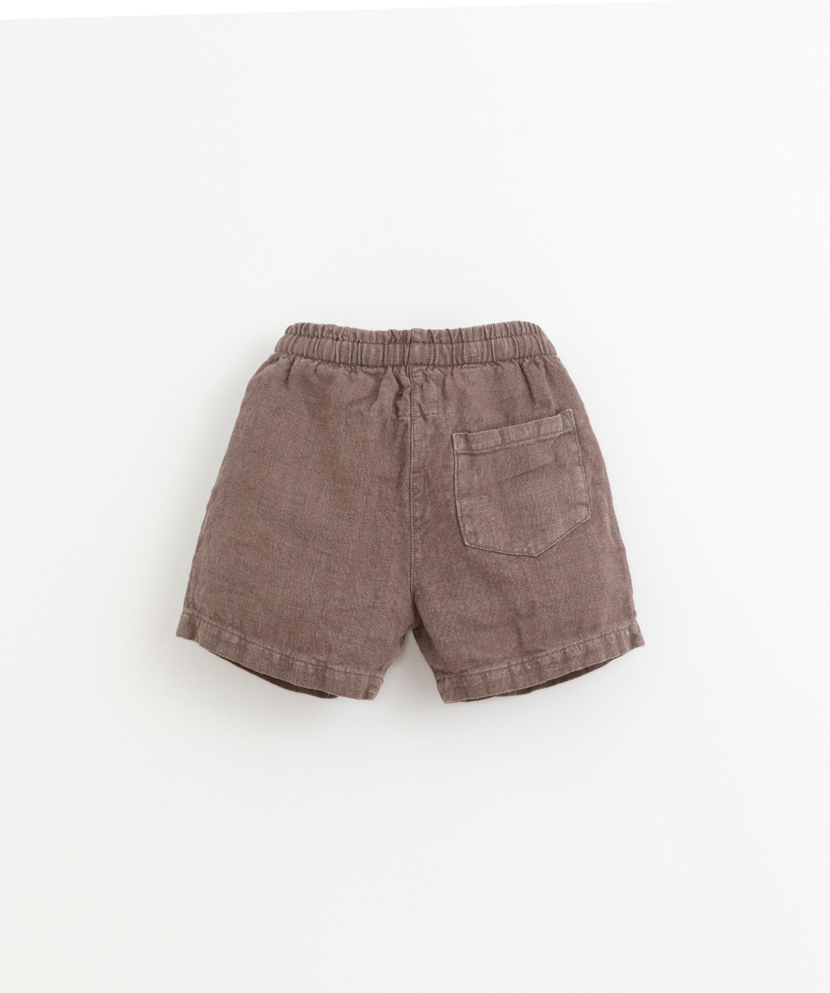Linen shorts pinha-2