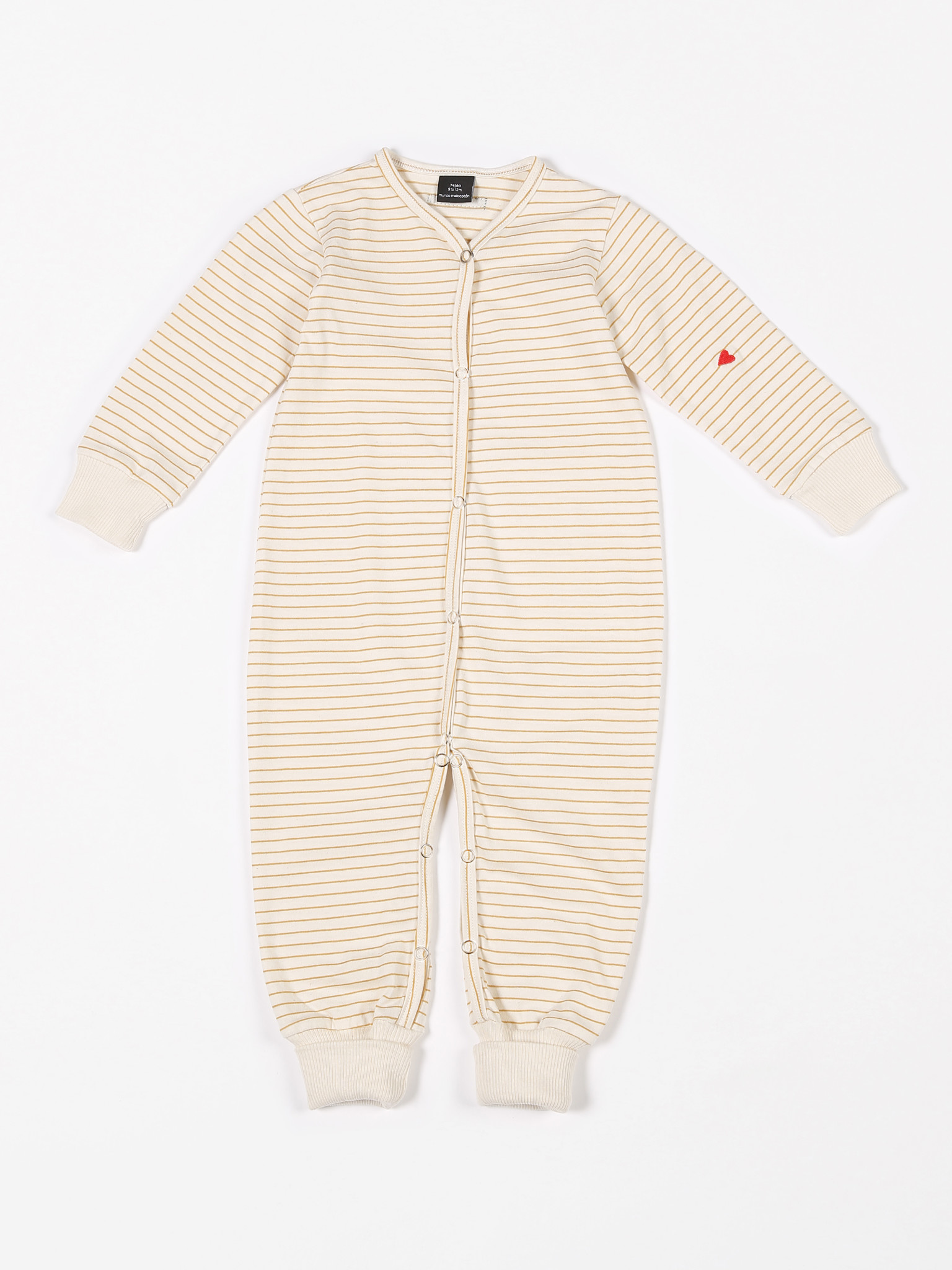 Playsuit jersey yellow stripes-1
