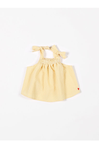 Smock top vichy small yellow