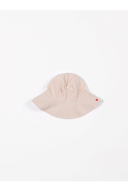 Sunhat small vichy pink sand