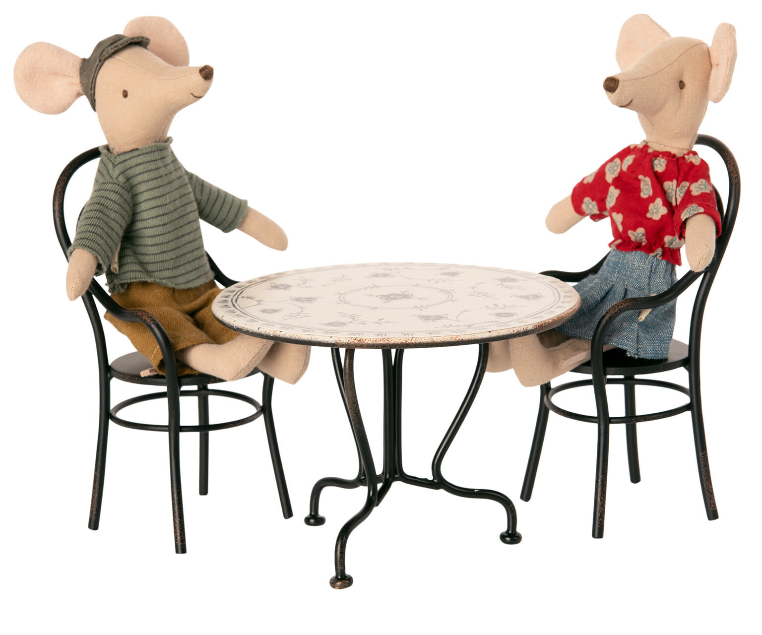 Dining table set with 2 chairs-2
