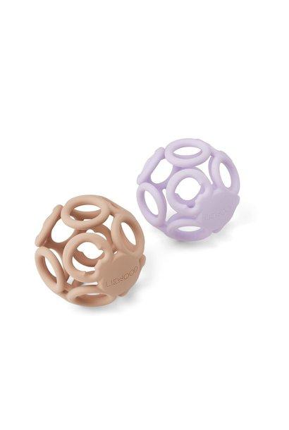Jasmin teether ball lavender rose mix - 2 pack