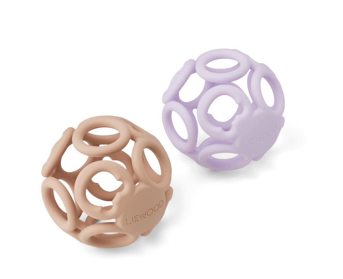 Jasmin teether ball lavender rose mix - 2 pack-1