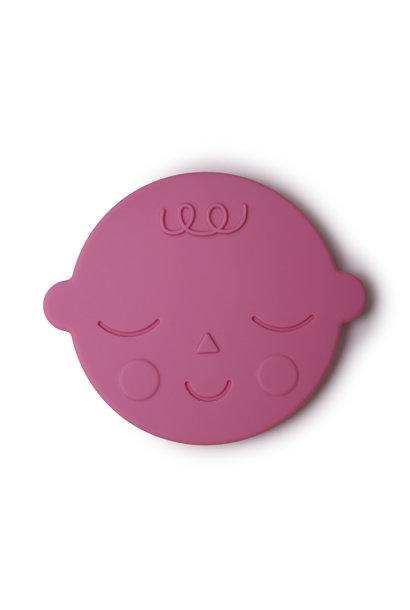Teether face bubblegum