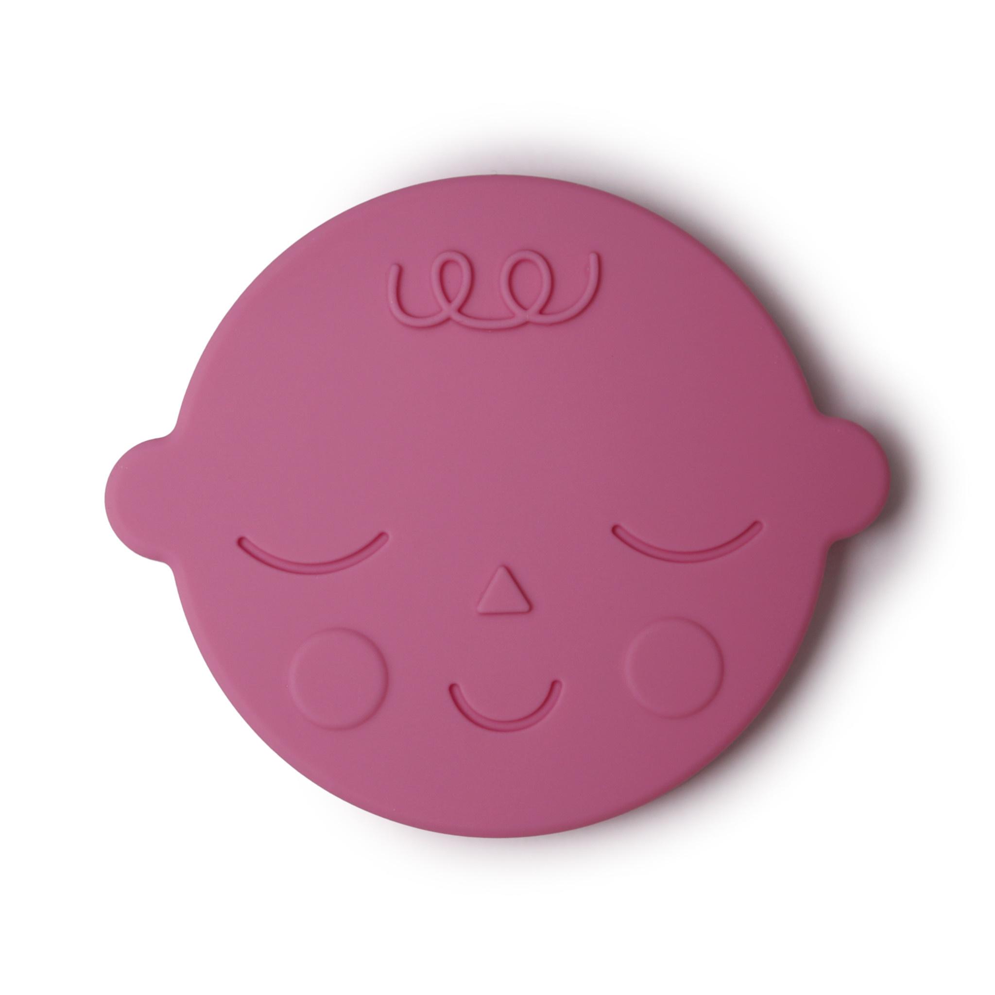 Teether face bubblegum-1
