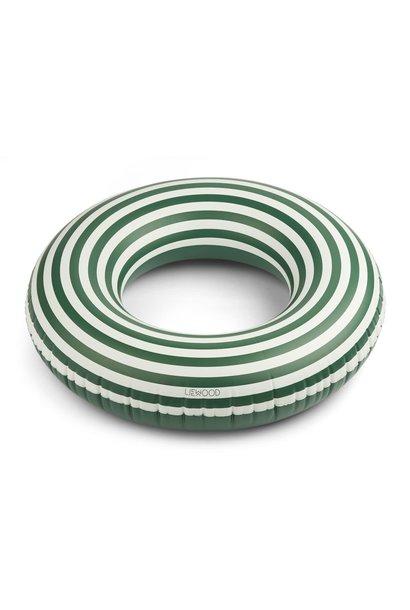 Donna big swim ring stripes garden green/creme de la creme