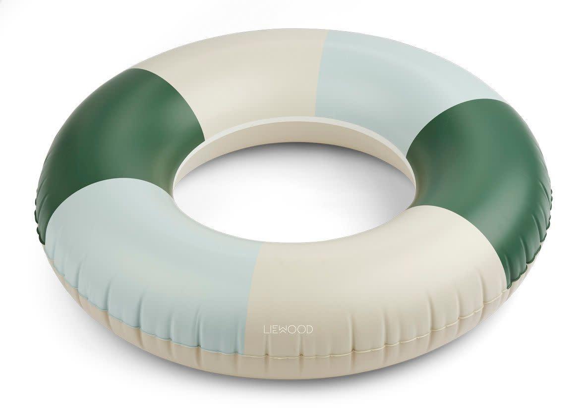 Donna swim ring stripes garden green/sandy/dove blue-1