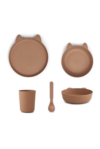 Paul tableware set rabbit tuscany rose