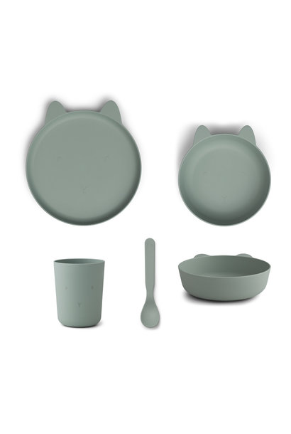 Paul tableware set rabbit peppermint