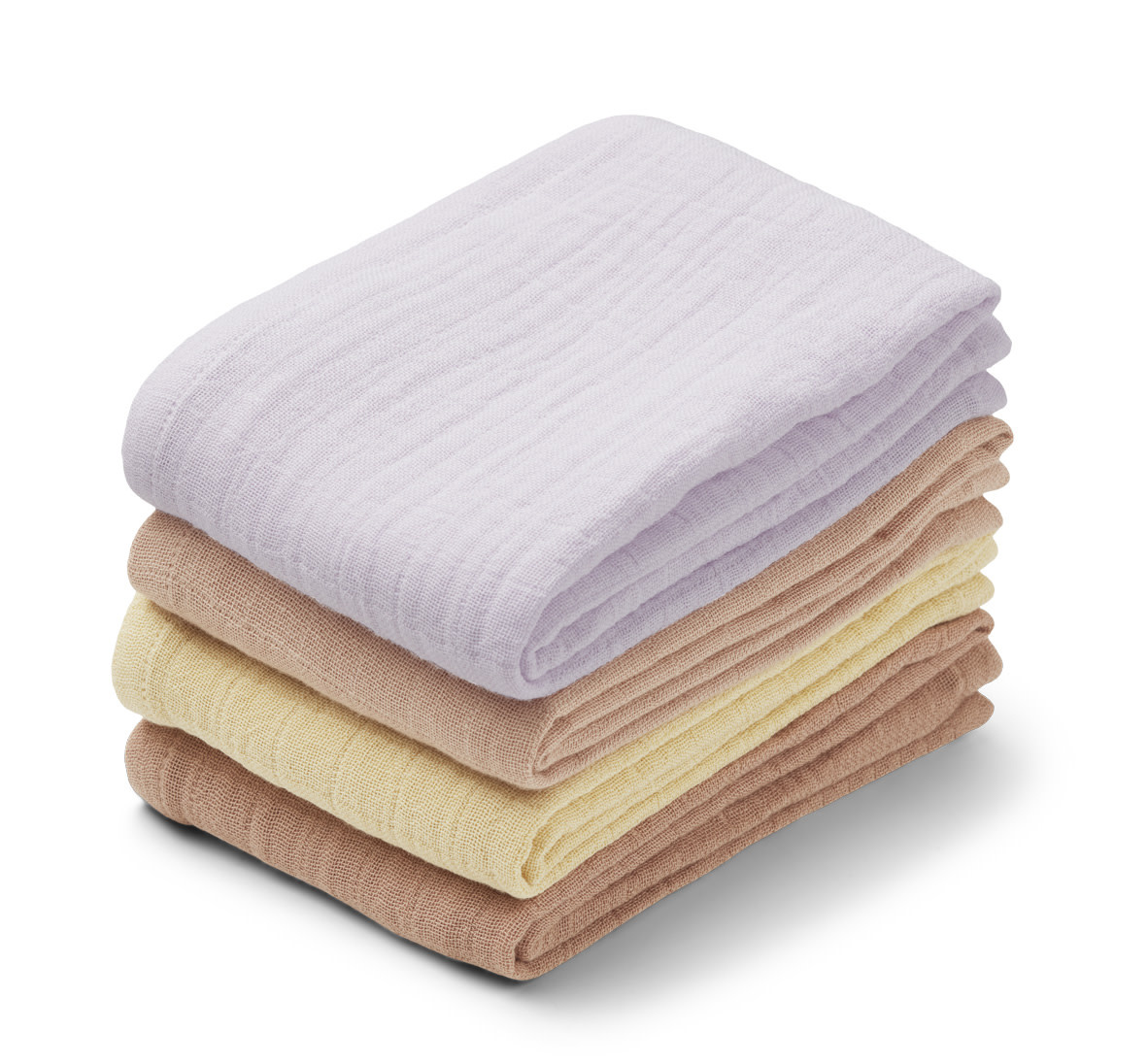 Leon muslin cloth light lavender multi mix - 4 pack-1