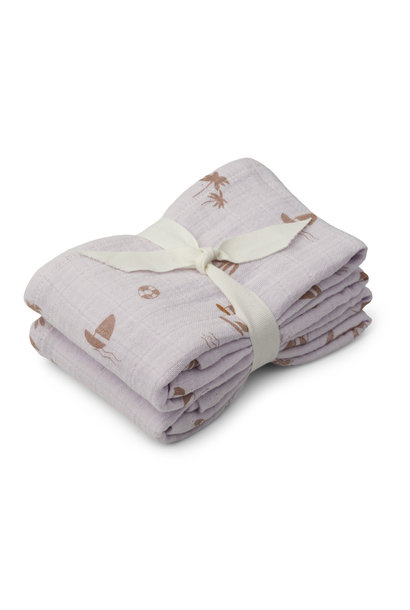 Lewis muslin cloth seaside light lavender - 2 pack