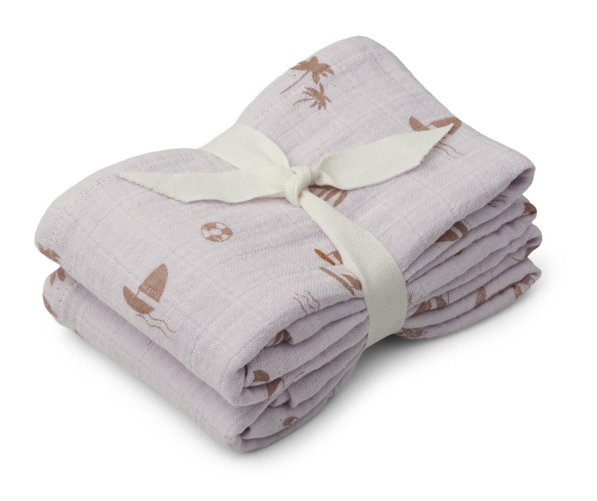 Lewis muslin cloth seaside light lavender - 2 pack-1