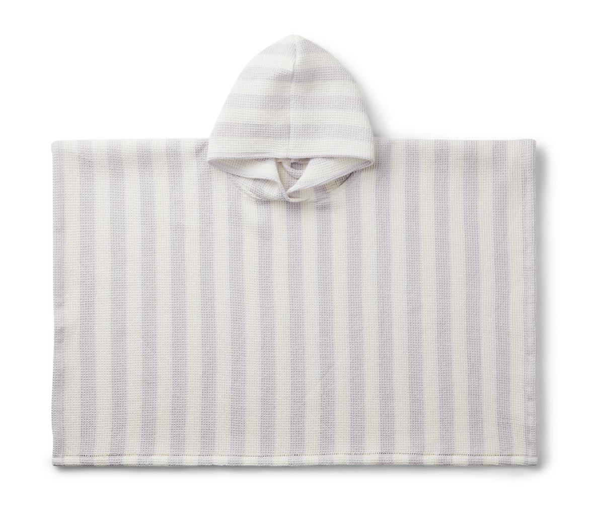 Poncho stripes light lavender/creme de la creme-1