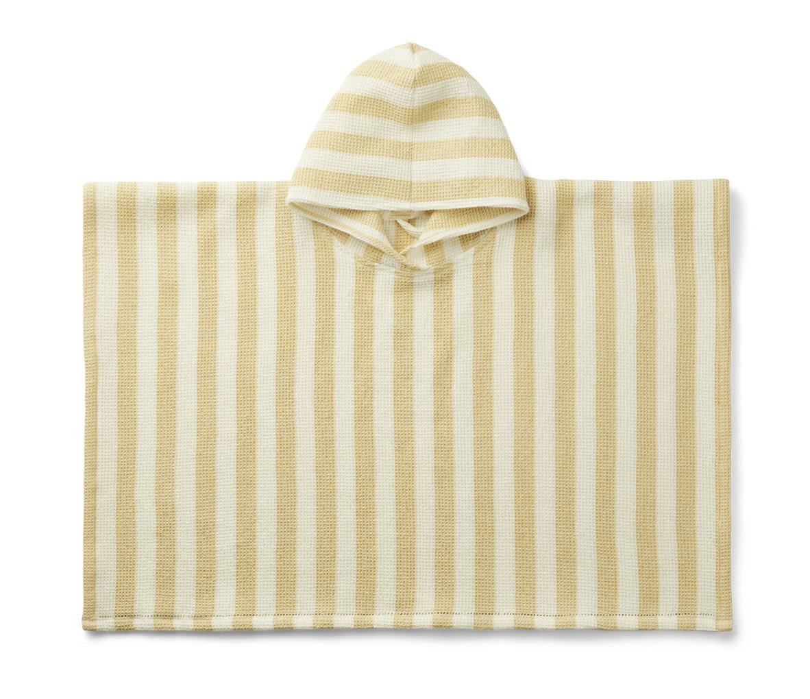 Poncho stripes wheat yellow/creme de la creme baby-1