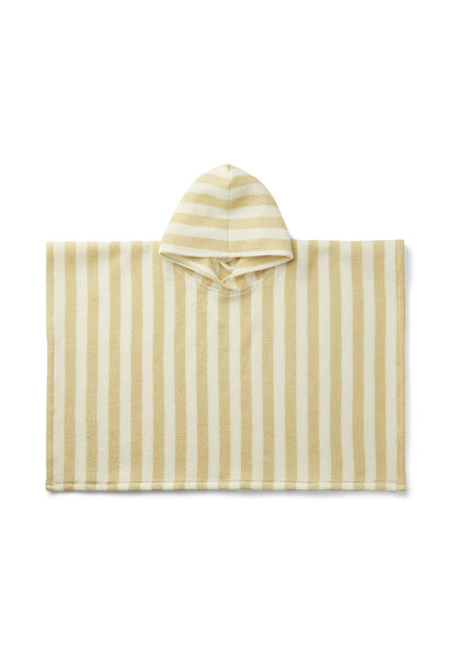 Poncho stripes wheat yellow/creme de la creme