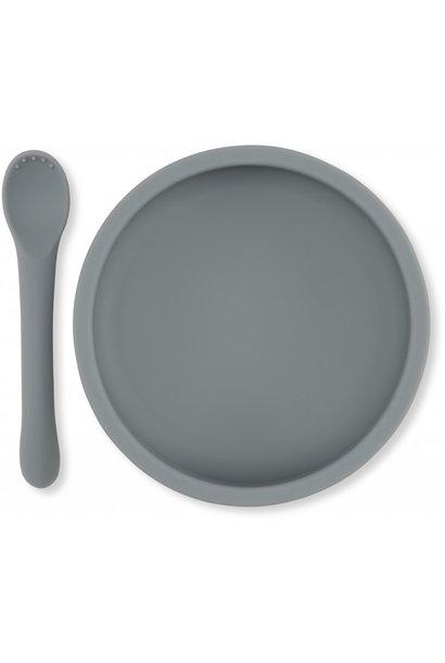 Bowl & spoon silicone set topanga