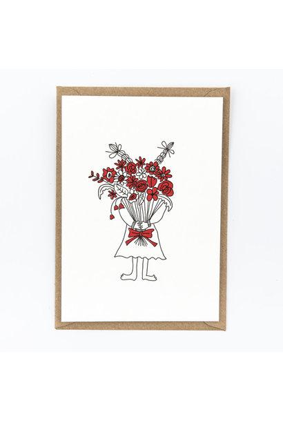 Kaartje 'flower girl'